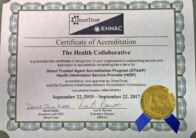 EHNAC certificate