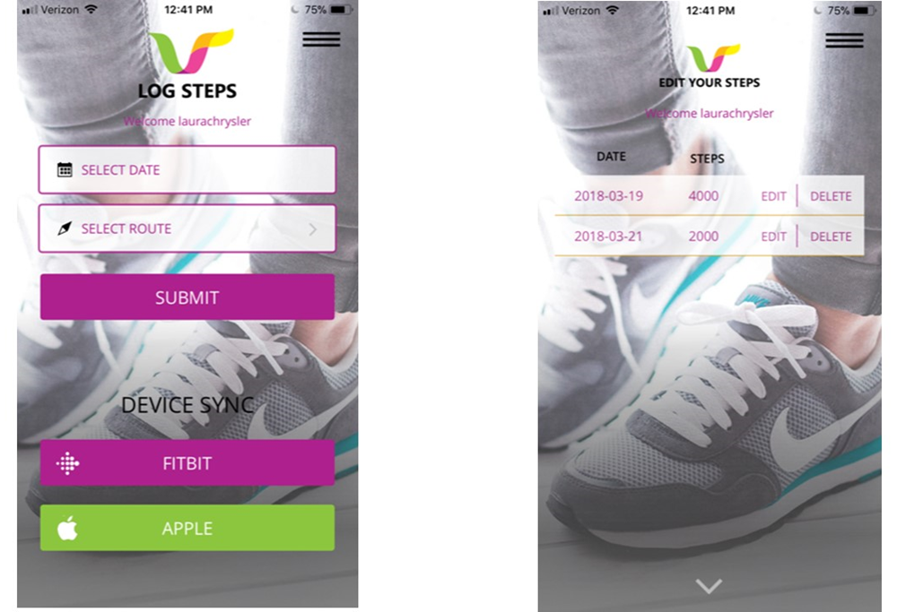 Step Up log-edit steps