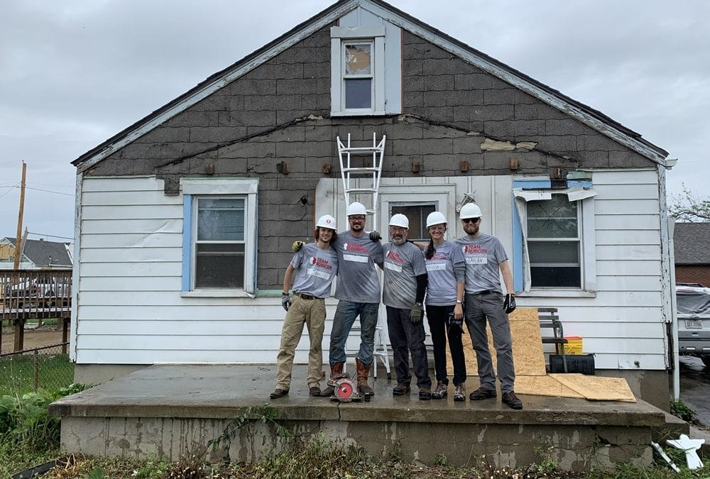 Team Rubicon members helped remove tornado debris and damage from homes