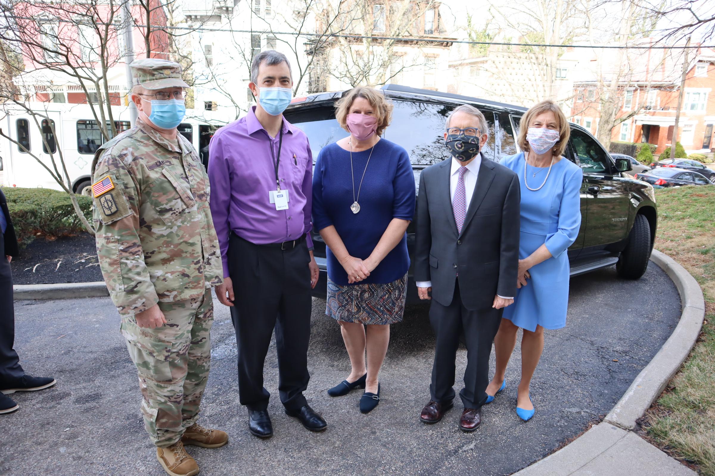 [PHOTOS] Ohio Gov DeWine Visits Cincinnati-Area Vaccination Clinic for Older Adults