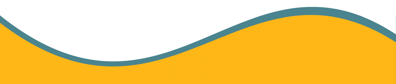 orange curve footer