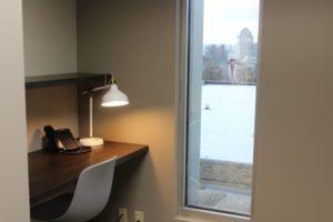 Hotel desk w P&G view